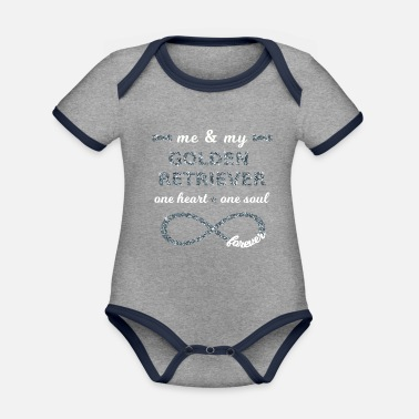 Dogowner Me & my golden Retriever dogowner Infinity I love - Organic Contrast Baby Bodysuit