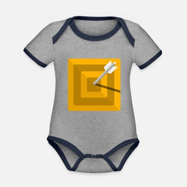 Steppenreiter archery arrow bow crossbow target sports64 - Organic Contrast Baby Bodysuit