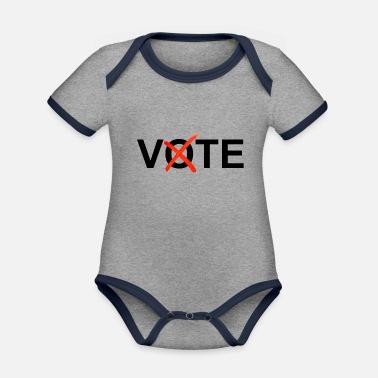 2acee1173 Cruz Roja Votar con cruz roja - Body con contraste bebé