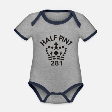 Pint Imperial Half Pint - Organic Contrast Baby Bodysuit