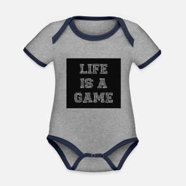 Life is a game - Organic Contrast Baby Bodysuit