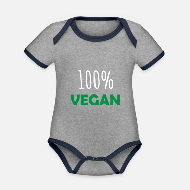 f244cb3a 100% vegansk vegansk vegansk gaveide - Kontrast babybody