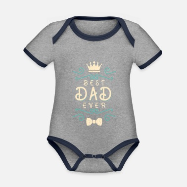 Day Father's Day Gift for Father's Day Dad - Organic Contrast Baby Bodysuit