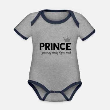 prince you may curtsy - Organic Contrast Baby Bodysuit