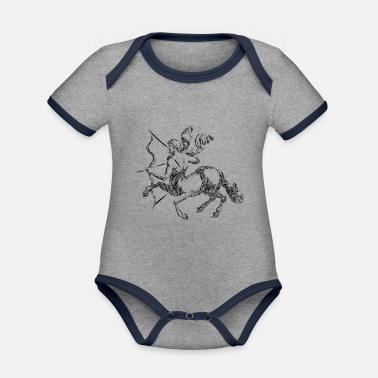 Steppenreiter archery arrow bow crossbow target sports44 - Organic Contrast Baby Bodysuit