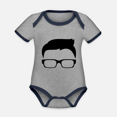 Hipster hipster - Organic Contrast Baby Bodysuit