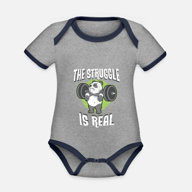 The fight is real - Organic Contrast Baby Bodysuit
