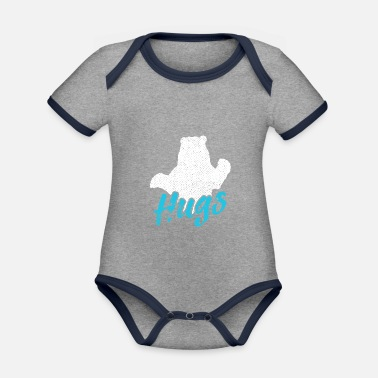 Discovery Channel bear - Organic Contrast Baby Bodysuit