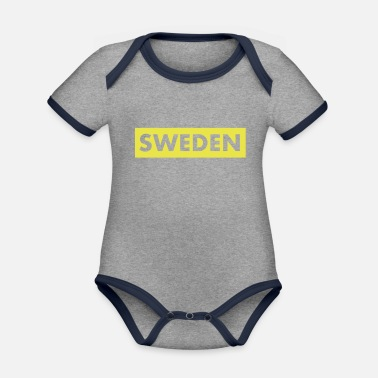 Swedish Girlfriend Sweden Sweden Swedish flag - Organic Contrast Baby Bodysuit