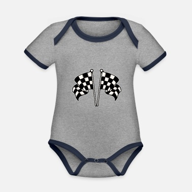 Racing Flags Racing flag - Organic Contrast Baby Bodysuit