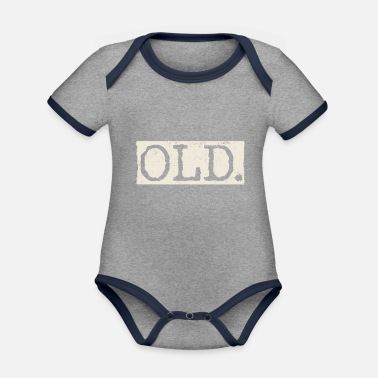 Old Old - Organic Contrast Baby Bodysuit