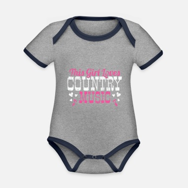 Country Country Country Saloon Western Cowboy Linedance - Body neonato bicolor