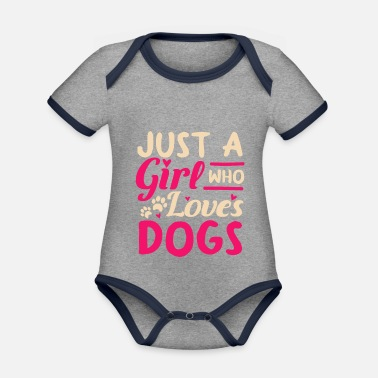 Owner Dogs owner owner - Organic Contrast Baby Bodysuit