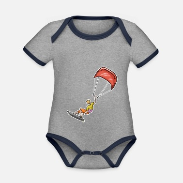 Illustration Kiteboarding Illustration - Organic Contrast Baby Bodysuit