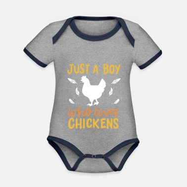 Stall Chickens breeding stall - Organic Contrast Baby Bodysuit
