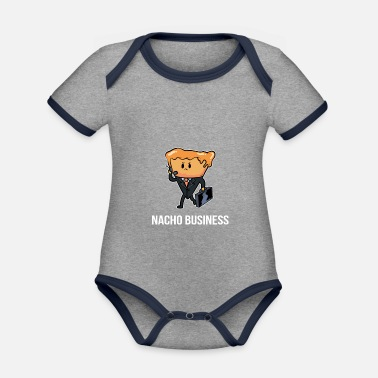 Nacho Business Funny Person Gift - Organic Contrast Baby Bodysuit