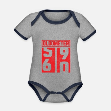 60th 60th birthday 60th 60th gift oldometer - Organic Contrast Baby Bodysuit