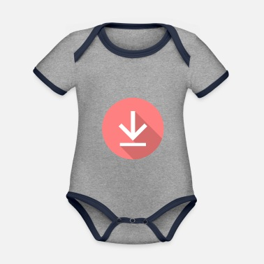 Download Download icon, download icon - Organic Contrast Baby Bodysuit