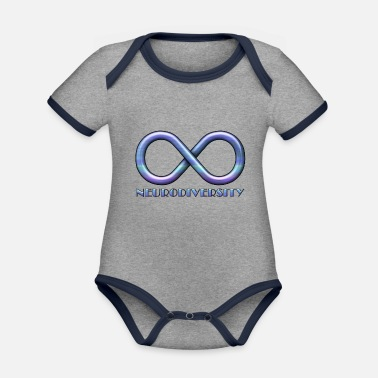 Infinity Sign for Neurodiversity - Organic Contrast Baby Bodysuit