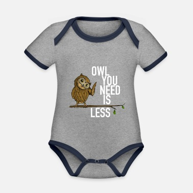 owl you need is less white - Organic Contrast Baby Bodysuit