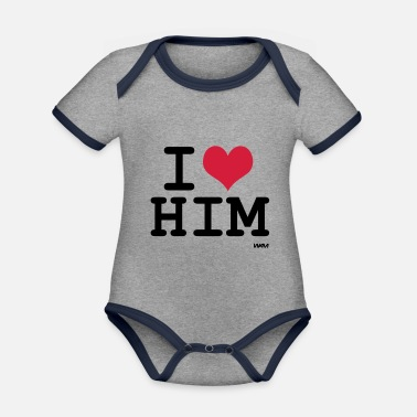 For Him him - Organic Contrast Baby Bodysuit