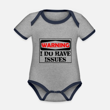 Funny - Organic Contrast Baby Bodysuit