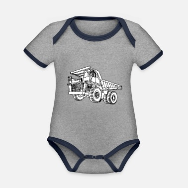 Vehicle vehicle - Organic Contrast Baby Bodysuit