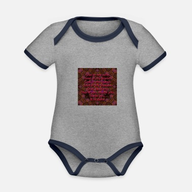 With Quotes quotes - Organic Contrast Baby Bodysuit