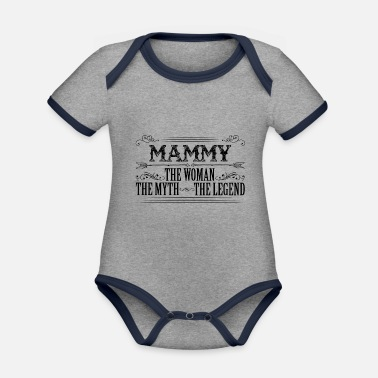 Mammy The Legend Mammy The Legend... - Organic Contrast Baby Bodysuit
