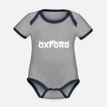 Oxfordshire Oxford Inghilterra skyline idea regalo Regno Unito - Body neonato bicolor