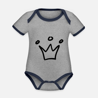 Crown crown crowns king - Organic Contrast Baby Bodysuit