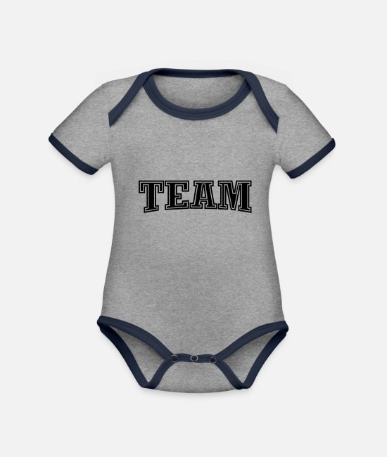 Rugby Baby Bodysuits - Team - Organic Contrast Baby Bodysuit heather grey/navy