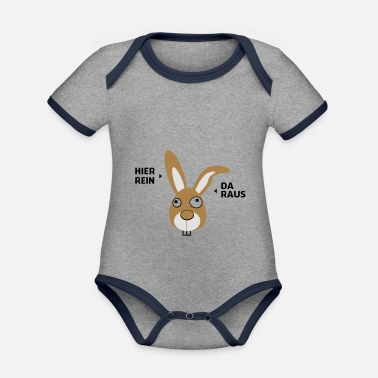 My name is Bunny - Organic Contrast Baby Bodysuit