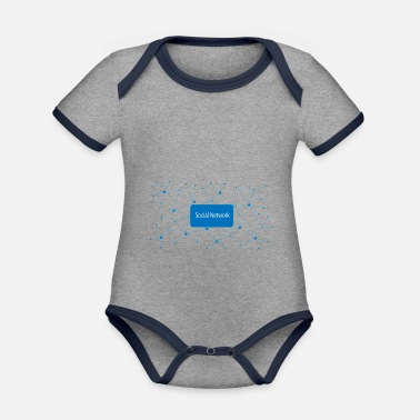 Social Network Social network - Organic Contrast Baby Bodysuit