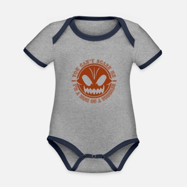 Undaunted Mother of a Toddler Undaunted Mama Pumpkin - Organic Contrast Baby Bodysuit