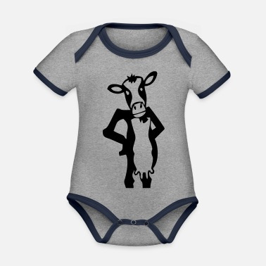 Cows Cow cow cows - Organic Contrast Baby Bodysuit