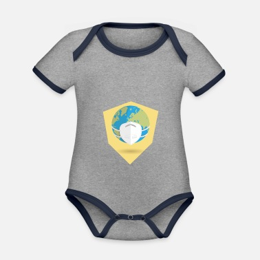 Epidemic Face mask, epidemic, shooters - Organic Contrast Baby Bodysuit