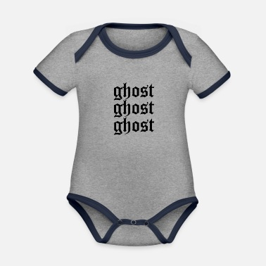 Ghost Ghost ghost ghost - Organic Contrast Baby Bodysuit