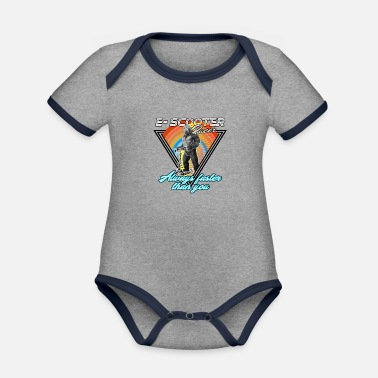 King Kong Escooter electric scooter King Kong - Organic Contrast Baby Bodysuit