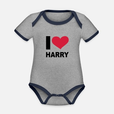 Harry I love Harry, Windsors, Prince Harry, Harry, - Body con contraste bebé