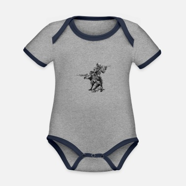 Special Forces Special Forces - Organic Contrast Baby Bodysuit