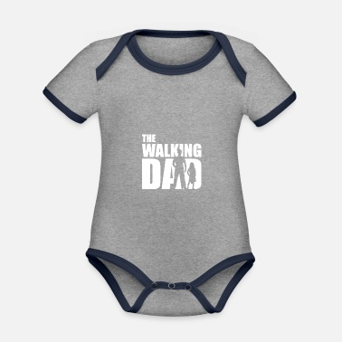 Expectant Fathers Dad expectant father gift present idea - Organic Contrast Baby Bodysuit