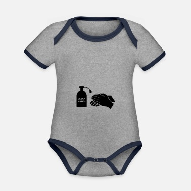 Clean What It Is clean hands - Organic Contrast Baby Bodysuit