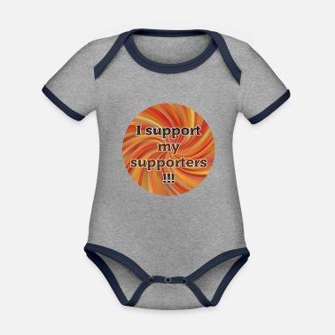 Communautés De Fans Je soutiens mes partisans - Shirt Communauté - Rouge -  Body bébé bio cfbf6a0f180