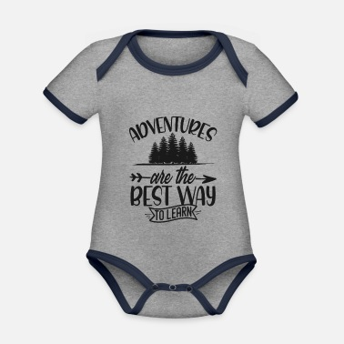 Traveling to travel - Organic Contrast Baby Bodysuit