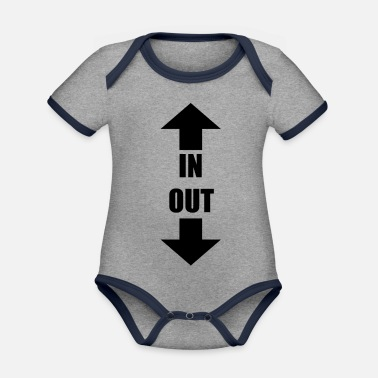 Out IN OUT - Organic Contrast Baby Bodysuit
