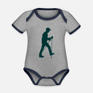 Walking Association nordicwalking walker 4 - Organic Contrast Baby Bodysuit