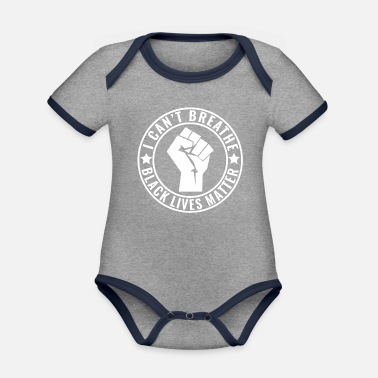 Vejr I Can't Breathe Shirt Black Lives Matter Fist - Økologisk kontrast babybody