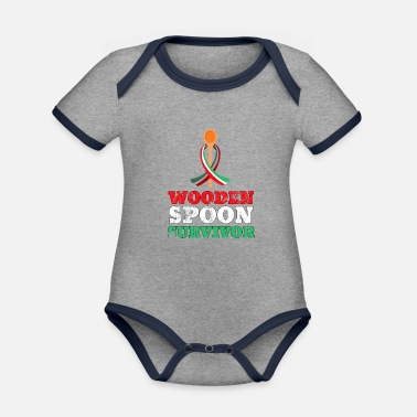 Friends Of Italy Wooden Spoon Survivor - Italy flag - Organic Contrast Baby Bodysuit