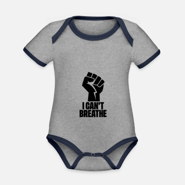 I CAN'T BREATHE - BLACK LIVES MATTER - Baby Bio Kurzarmbody zweifarbig